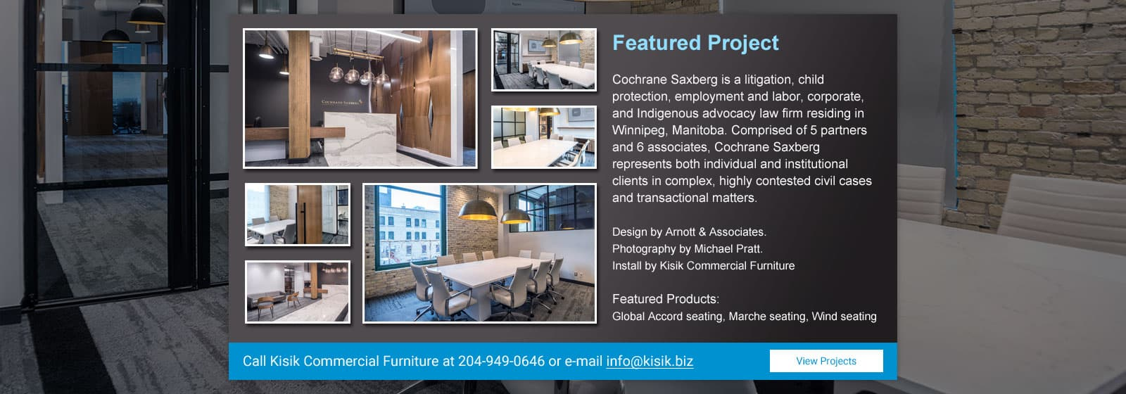 Featured Project - Cochrane Saxberg Install